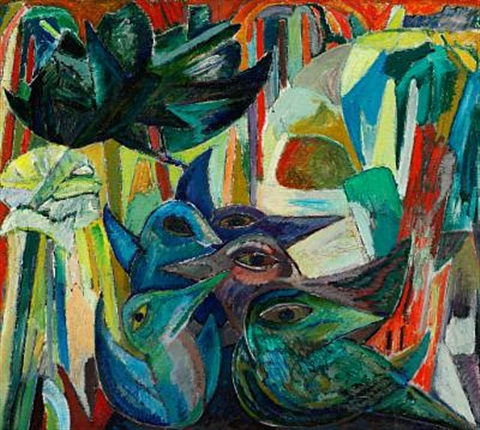 composition with birds by lars akirke