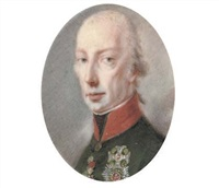 francis ii, holy roman emperor and emperor of austria as francis i, in green coat, wearing the jewel of the order of the golden fleece, and the breast-stars of the imperial austrian orders by josef kreutzinger