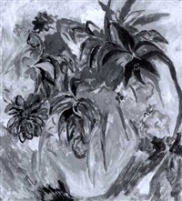 blüten in gelber vase by ulrich leman