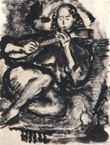 guitarist by mark rothko