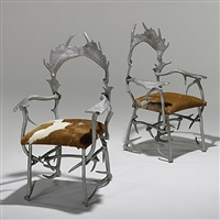 antler chairs (pair) by arthur court