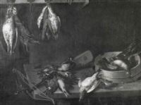jagdstilleben mit armbrust und vögeln by philips angel
