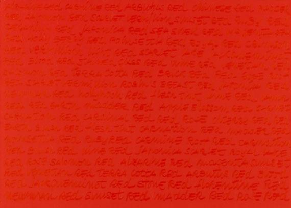 red / nomenclature by maurizio nannucci