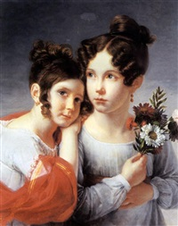 two sisters by francois henri mulard