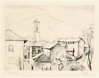 muzzano im tessin by karl hofer