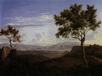 ausblick von olevano (im rücken) auf die volskerberge (montagne die vischi) by florian grospietsch