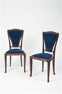 side chairs (pair) by pierre selmersheim
