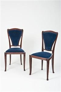 side chairs (pair) by pierre selmersheim