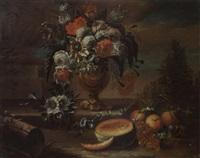 blumen- und früchtestilleben by johann paul waxschlunger