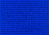 blue / nomenclature by maurizio nannucci