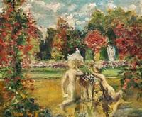 impressionistisk parklandskab fra versailles by ioannis (jean h.) altamura