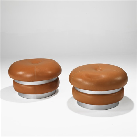 poufs pair by maurice calka