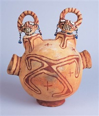 double effigy jar by anita fields