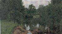 landskap med vattendrag by herman lindqvist