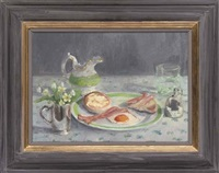 bacon, egg and english muffins by julie fleming-williams