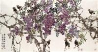 spring rain, new blossoms by liang shimin