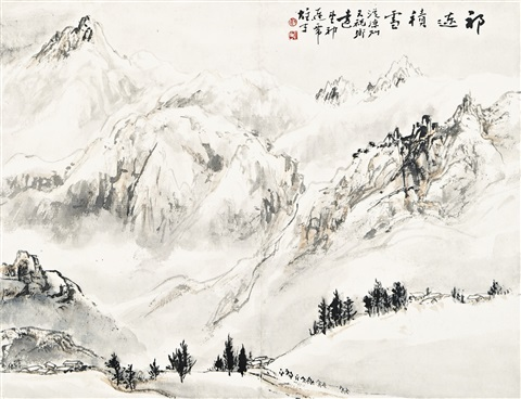 winter in qilian mountain by li xiongcai