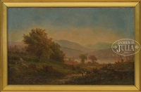 panoramic scene of the white mountains n.h by george frank higgins