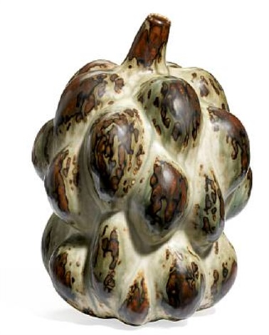 fruit shaped vase modelled with small mouth by axel johann salto