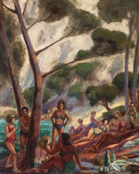 lakeside bathers by lucien a. labaudt