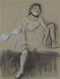 danseuse au repos by edgar degas