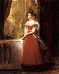 portrait of woman (duchess d'coigny?) by marguerite gérard