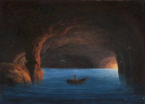 the blue grotto italy by georg emil libert on artnet