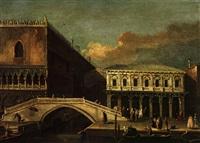 venedig mit der seufzerbrücke by francesco tironi