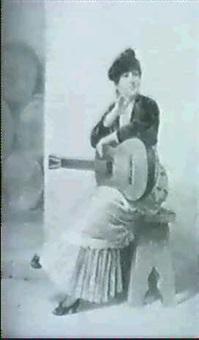 mujer con guitarra by manuel espinosa