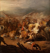 schlachtenszene by francesco giuseppe casanova