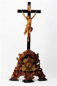 standkruzifix mit uhr by johann benedikt witz