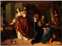 der stürmisch verliebte portraitist by charles van den daele