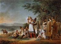 vergnügliche rast der soldaten by philipp heinrich dunker