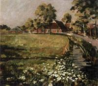 farm near a canal by cor van loenen