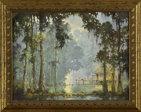 Fishing camp on the blue louisiana bayou by robert malcolm for Fishing camps for sale in louisiana