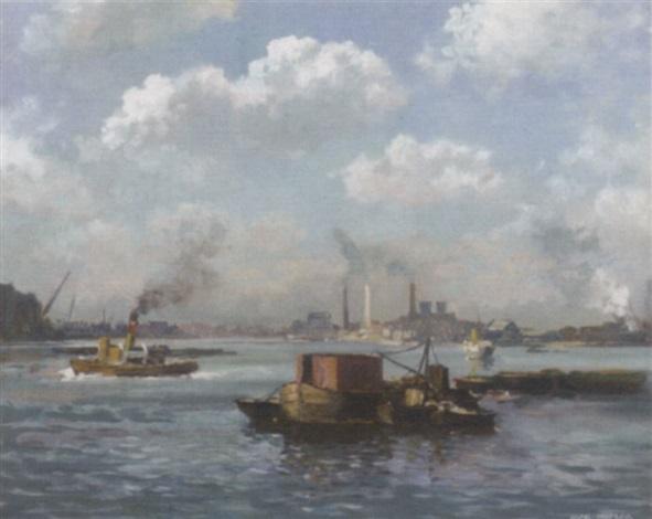 tugs in an industrial harbour by max hofler