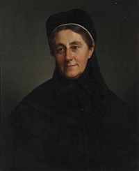 portrait of mrs. councillor benedicte collin by frederik (johan frederik nikolai) vermehren