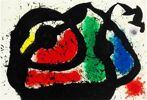logre enjoué by joan miró