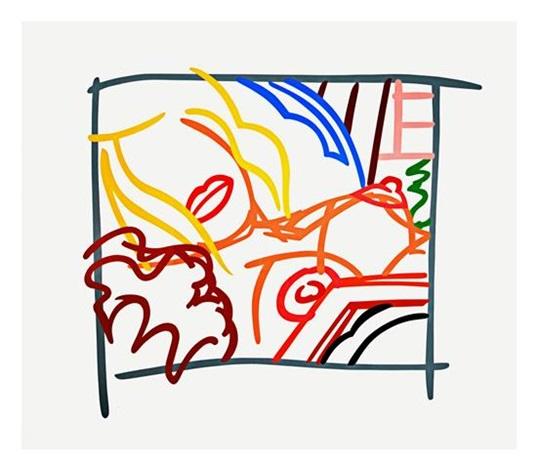 bedroom blonde doodle by tom wesselmann