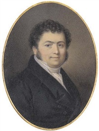 george lesaing, in black coat and waistcoat, white shirt and cravat by jean antoine laurent