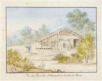 vue dans la vallée d'oberhasli au canton de berne by eugene humbert