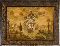 la inmaculada con los símbolos de las letanías by mexican school (17)