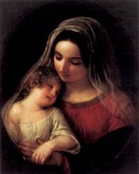 madonna mit schlafendem jesusknaben by natale schiavoni