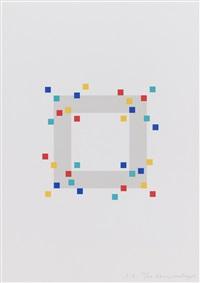 vier variationen um ein quadrat (mappe mit 4 blatt) by verena loewensberg