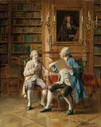 disput in der bibliothek by johann hamza