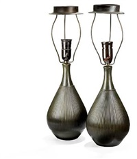 table lamps with drop shaped corpus (pair) by just andersen