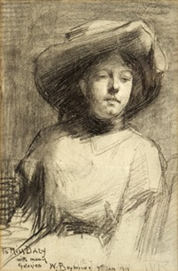 portrait of a woman in a hat by william brymner