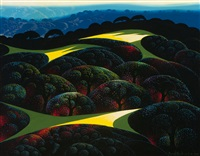 hills and fields by eyvind earle