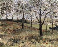 bloeiende boomgaard by cor van loenen