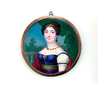 brustporträt einer dame by pauline augustin
